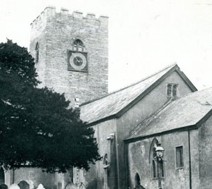 Bampton church clock c1880