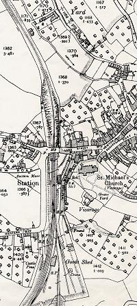 Map of Bampton 1904