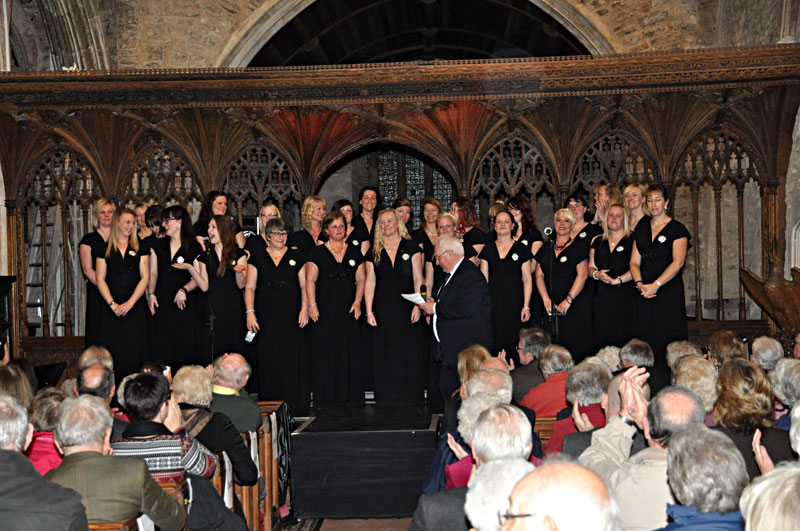 Military Wives Choir at Bampton church